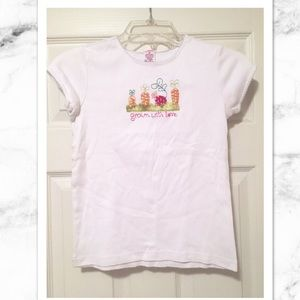 Girls T-shirt with garden decal on front!